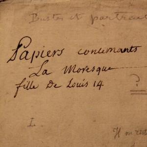 papiers concernant la Mauresque