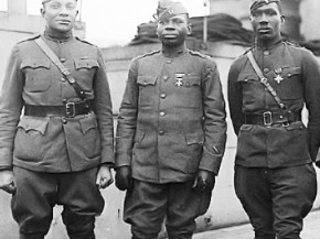 Four 366th Infantry officers